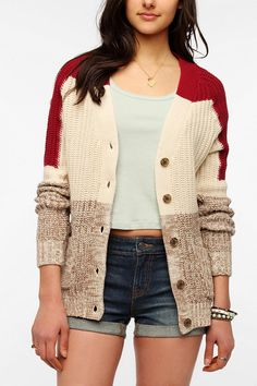 BDG Chunky Shaker Stitch Cardigan  urban outfitters