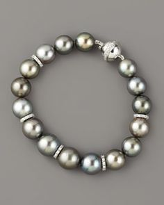 Assael  Tahitian Pearl & Diamond Bracele
