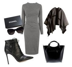 """Gray Matter"" by coco-sunshine on Polyvore featuring Whistles, Gianvito Rossi, Massimo Castelli, Chanel and Burberry"