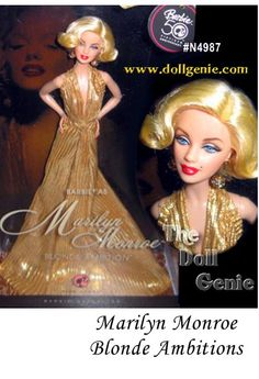 Barbie Doll As Marilyn Monroe Is The Debut In Blonde Ambition Collection A Series Celebrating Blondes We All Love And Admire