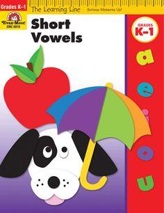 Learning Line: Short Vowels, Grades K-1 - Activity Book: Evan-Moor.com