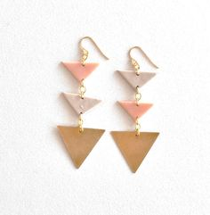 Geometric earrings by miomion