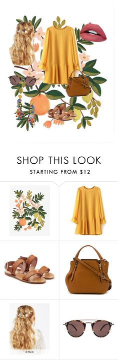 """Untitled #42"" by ayse-sena-karamkloglu ❤ liked on Polyvore featuring Rifle Paper Co, RED Valentino, Burberry, ASOS, Oliver Peoples and Tory Burch"