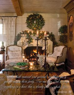 Vintage French Soul ~ Inspired Design: Christmas Boutique December Seventh Christmas Fireplace, Christmas Room, Christmas Mantels, Noel Christmas, Winter Christmas, All Things Christmas, Christmas Decorations, Holiday Decor, Christmas Scones