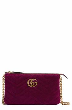 37bfade9a7d6 Gucci Mini GG Marmont 2.0 Matelassé Velvet Shoulder Bag Gg Marmont, Purse  Wallet, Zip