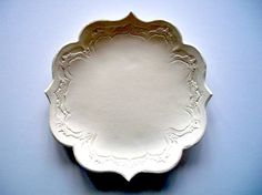 Ornate Dinner Plate or Hors D'oerves Plate by CatsPawPottery
