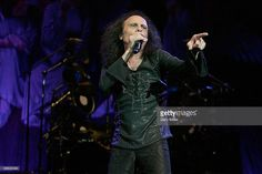 Vocalist Ronnie James Dio performing here in concert with Heaven & Hell at the Verizon Wireless Amphitheater in San Antonio, Texas on May 01, 2007 died of stomach cancer on May 16, 2010 in Houston, Texas.