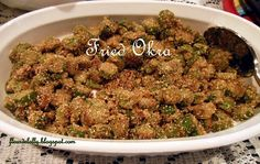Fleur de Lolly: Southern Fried Okra.  The BEST way to enjoy okra in my opinion is lightly battered with cornmeal and fried in a cast iron skillet.