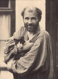 Gustav Klimt, Vienna, 1912 by Moriz Nähr