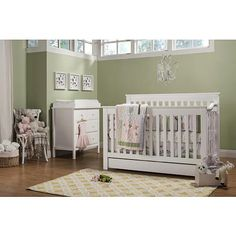 """Piedmont 4-in-1 Convertible Crib with Toddler Bed Conversion Kit - White - DaVinci - Babies """"R"""" Us"""