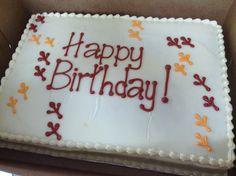 Virginia tech birthday cake.