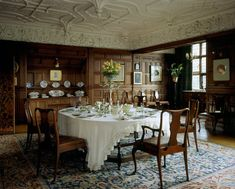 Wightwick Manor: The Morning Room at Wightwick Manor, Wolverhampton, West Midlands. #William_Morris #Morris_and_Co #Wightwick_Manor