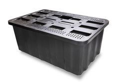 Features Heavy duty plastic - lighter than alternative products, rustproof loading capacity - suitable for large, heavy water features water holding capacity - reduces the need for refilling Includes access panel - allows pump kit to be easily accessible Green Led Lights, Cascade Water, Pond Liner, Access Panel, Brick Garden, Les Cascades, Water Walls, Led Light Strips, Plastic Laundry Basket