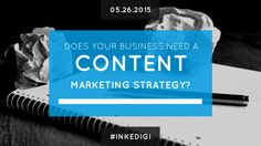 Does your business need a content marketing strategy? Find out now! #contentmarketing