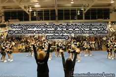 So true! My favorite is when you can see them in videos jumping up and down like crazy cheering us on. <3