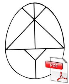 Lovely Tangram of the Easter egg. What shapes do I've? What sort of triangles are right here . Lovely Tangram of the Easter egg. Easter Art, Easter Crafts For Kids, Toddler Crafts, Easter Eggs, Easter Activities, Spring Activities, Activities For Kids, Tangram, Easter Colouring