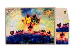 fatáblán, akasztóval cm méretbenPrint on wood Artwork, Painting, Starry, Starry Night