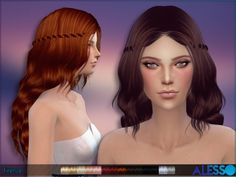 The Sims Resource: Alesso - Firenze Hair • Sims 4 Downloads