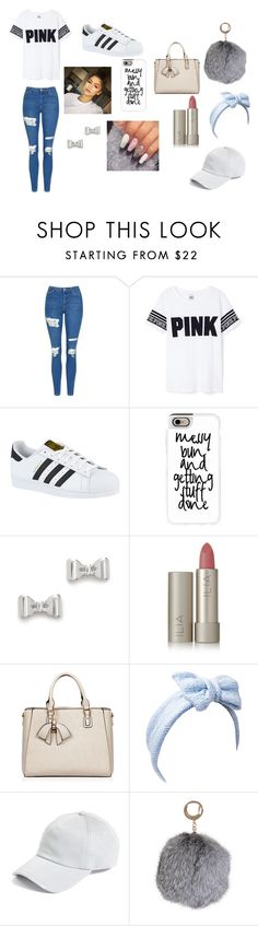 """Messy Bun & Getting Stuff Done"" by iambri-bri-4life ❤ liked on Polyvore featuring Topshop, Victoria's Secret, adidas, Casetify, Marc by Marc Jacobs, Ilia, Beauxoxo, rag & bone and Humble Chic"