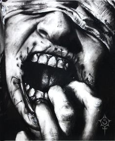 Supreme Portrait Drawing with Charcoal Ideas. Prodigious Portrait Drawing with Charcoal Ideas. Creepy Tattoos, Creepy Drawings, Dark Art Drawings, Drawing Sketches, Mgk Tattoos, Drawing Tips, Drawing Ideas, Arte Horror, Horror Art