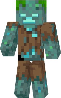 i wanda how drowneds are formed Minecraft Skins Creeper, Hama Minecraft, Minecraft Posters, Minecraft Characters, Minecraft Fan Art, Minecraft Drawings, Minecraft Pictures, Zombie Face Paint, Drowning Art
