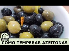 Como temperar azeitonas