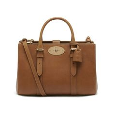 Mulberry - Small Bayswater Double Zip Tote in Oak Natural Leather Brown Leather Handbags, Brown Leather Totes, Leather Bags, Mulberry Bag, Crossbody Tote, Tote Purse, Leather Crossbody, Tote Handbags, Tote Bags