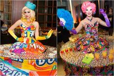 Bar Mitzvah Strolling Cocktail Tables - Andy Warhol Art Theme {5th Avenue Digital} - mazelmoments.com