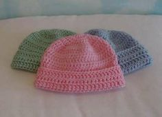 Crochet newborn baby hat pattern. These would be ideal to make up ... af7fb714782