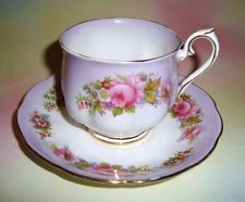 Purple with Floral Bouquet Royal Albert Tea Cup and Saucer Set
