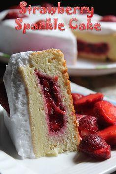 strawberry sparkle cake recipe more cakes pies cake recipe cakes fruit ...