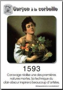 1593 Garçon à la corbeille de Caravage
