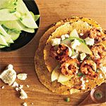 Shrimp Tacos with Green Apple Salsa Recipe | MyRecipes.com