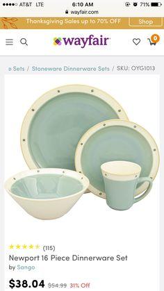Sango Dinnerware ...  sc 1 st  Pinterest & Sango Comet Black 16-piece Dinnerware Set by Sango