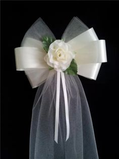 Pew Ends/Chairback Rose Fluffy Tulle Wedding Bows - choice of colour in Home, Furniture & DIY, Wedding Supplies, Other Wedding Supplies Church Pew Wedding, Wedding Arch Tulle, Tulle Wedding Decorations, Pew Decorations, Wedding Pews, Wedding Chairs, Church Pews, Sage Wedding, Wedding Bouquet