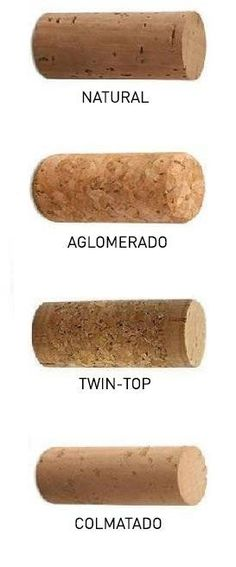 Different wine cork types