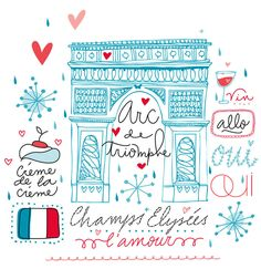 fun graphic art of one of my favorite places, Paris, of course.