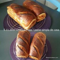 Homemade bread simple step by step recipe that does not fail Urban flavor - Grillen Romanian Food, Home Food, Baked Potato, Cake Recipes, Food And Drink, Bread, Simple, Ethnic Recipes, Homemade Recipe