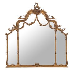 French Ornate Overmantle Mirror La Maison Chic MirrorLiving Room