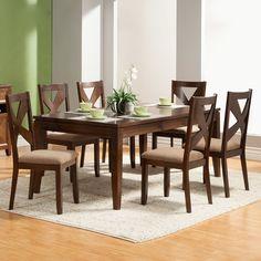 Alpine Furniture Albany 7 Piece Dining Set