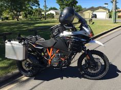 My rear Rumbux cage arrived today for my just got done getting them installed, now I'm rocking the full Rumbux setup and ready for. Ktm 690, Ktm Parts, Ktm Adventure, Honda Africa Twin, All Ride, Rider, What Is Order, Bike Accessories, Best Investments
