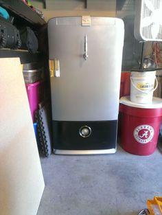 vintage fridge kegerator