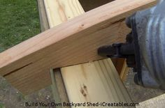 How to build a shed roof nailing rafter to top plate