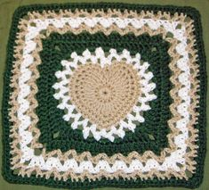 center heart square in green.. - free pattern thru Ravelry