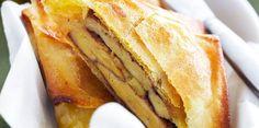 Brick foie gras et pommes Party Finger Foods, Finger Food Appetizers, Tapas, Good Food, Yummy Food, Salty Foods, French Food, I Foods, Brunch