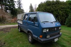 OLD PARKED CARS.: German Tonka Trucks, Part 2: 1989 Volkswagen Transporter Tristar Syncro doublecab.