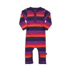 ej sikke lej Organic Striped Cottonsuit