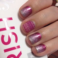 Berry Sparkler with Island Energy.  Jamberry wraps | nail art | manicure | Spring Summer Catalog 2015