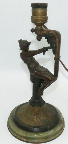 96: French Art Nouveau bronze & shell lamp - Nov 28, 2012 | Antiques Show in FL Mermaid Lamp, Art Nouveau, Shell Lamp, Bronze, 4 H, French Art, Shells, Antiques, Baby Newborn