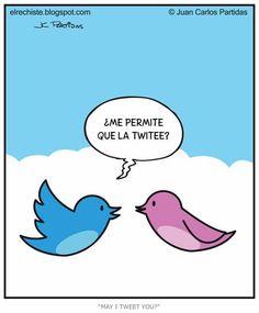 ¿Me permite que la twitee? Imágenes graciosas, humor, diversión, chistes #Humor #Fun #Joke #Funny #Jokes #Risas #Hahaha #Jajaja